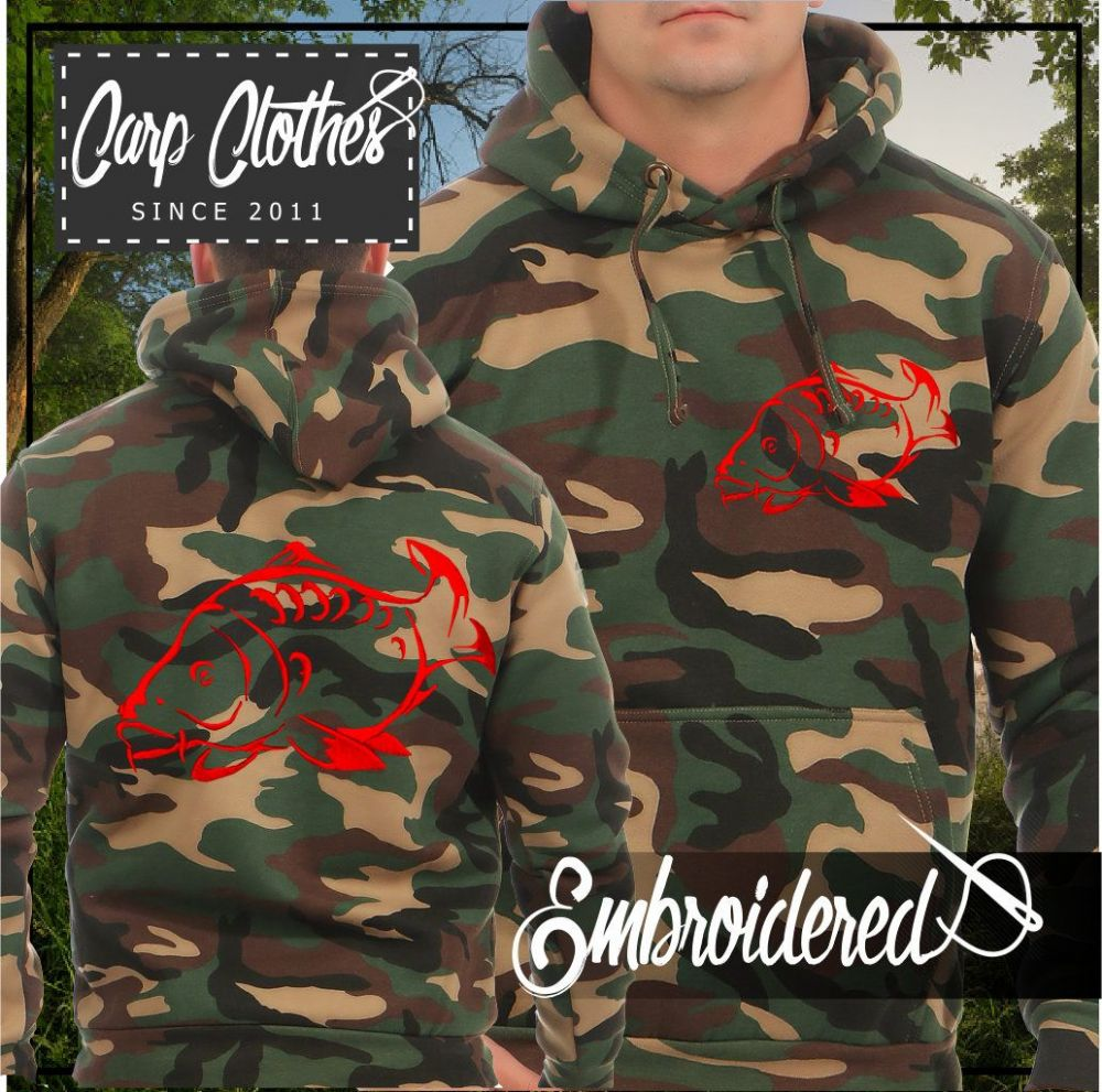 001 EMBROIDERED CAMO FISHING HOODIE
